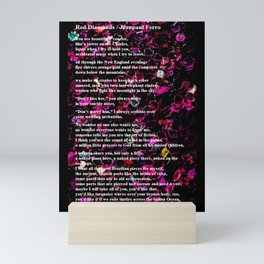Red Diamonds - Poetry Art - by Jéanpaul Ferro Mini Art Print