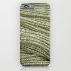 Yellow, light green handspun yarn iPhone 6s Slim Case