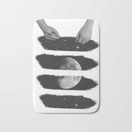 Draw me the moon Bath Mat