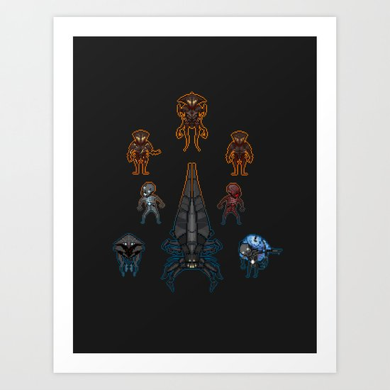 Mass Effect 2 Baddies Art Print