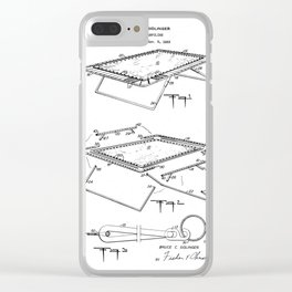 Trampoline Vintage Patent Hand Drawing Clear iPhone Case
