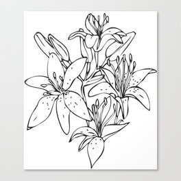 Day Lilies #2 Canvas Print