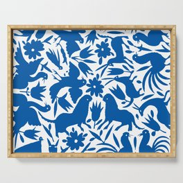 otomi blue Serving Tray