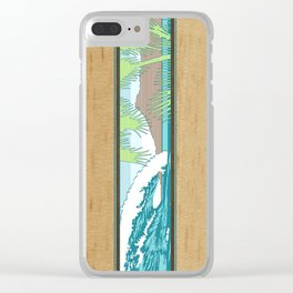 Ala Moana Diamond Head Hawaiian Surf Sign Clear iPhone Case