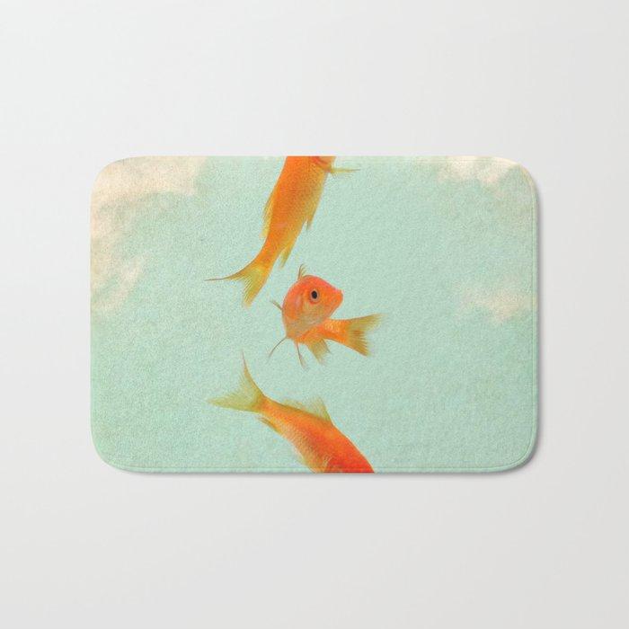 Goldfish in the sky Bath Mat