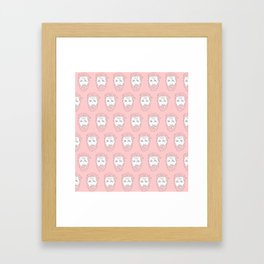 Pink yet still Hardy Framed Art Print