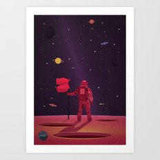 SPACEMAN WENT TRAVELLING Art Print