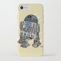 r2d2 iPhone & iPod Cases featuring R2D2 by Rebecca Bear