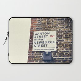 London street sign Laptop Sleeve