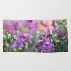 Romantic floral vibes - Bougainvillea #1 #decor #art #society6 Beach Towel