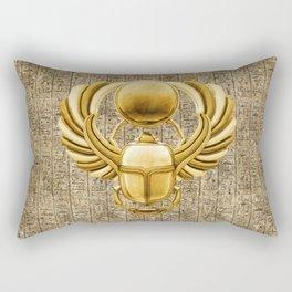 Gold Egyptian Scarab Rectangular Pillow
