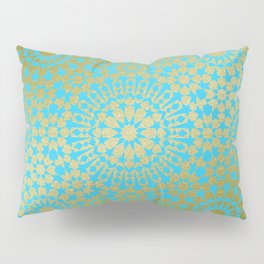Moroccan Nights - Gold Teal Mandala Pattern 1 - Mix & Match with Simplicity of Life Pillow Sham