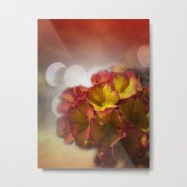 primroses with bokeh Metal Print