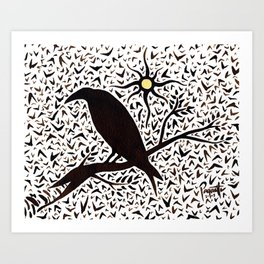 A Day of Crows Art Print