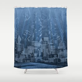 Submerged City Shower Curtain
