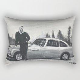 Mr. Connery w/ The DB5  Rectangular Pillow