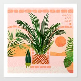 Mediterranean Vacation / Exotic Landscape Art Print