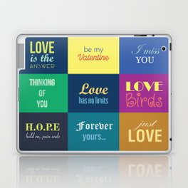 love messages Laptop & iPad Skin