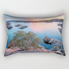 USA Watson Lake in Prescott Arizona Nature Sunrises and sunsets Trees sunrise and sunset Rectangular Pillow