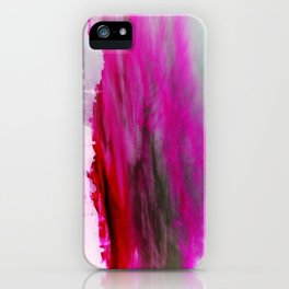 Purple Clouds Red Mountain iPhone Case