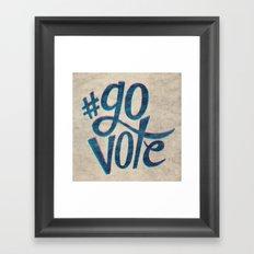 #GoVote Framed Art Print