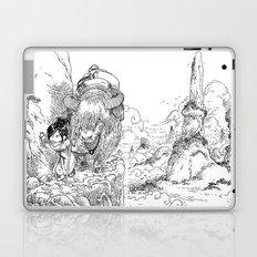 Promenade dans la montagne - Walking in the mountains Laptop & iPad Skin
