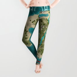 Pirate Adventure Map Leggings