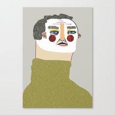 Man Illustration. Canvas Print