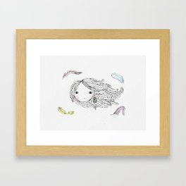 The Bird Lady Framed Art Print
