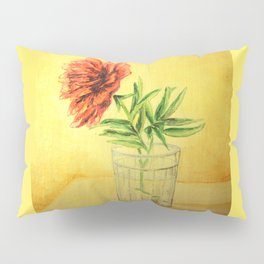 flower in a glass . illustration  ( https://society6.com/totalflora/collection ) Pillow Sham
