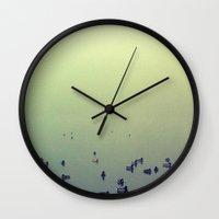 ducks Wall Clocks featuring Ducks by KrizanDS