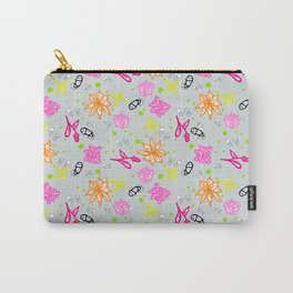 Pri Inspired Flowery Repeat Pattern Carry-All Pouch
