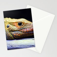 Caiman Lizard Profile Stationery Cards