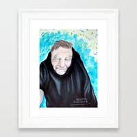 robin williams Framed Art Prints featuring Robin Williams  by Melissa Rodriguez