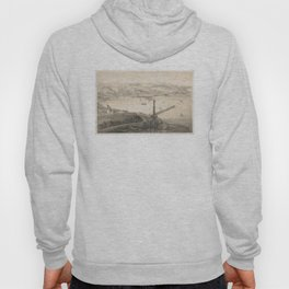 Vintage Pictorial Map of Genoa Italy (1850s) Hoody