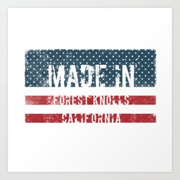 Made in Forest Knolls, California Art Print