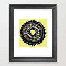 Patterned Sun II Framed Art Print