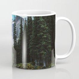 Canoeing in Moraine lake Coffee Mug