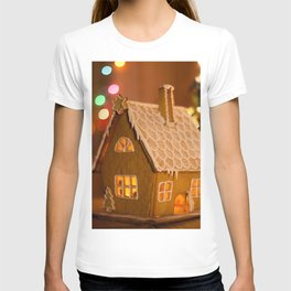 Picture Christmas Food Cookies Houses Pastry Desig T-shirt