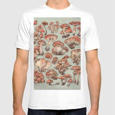 A Series of Mushrooms Mens Fitted Tee LARGE White