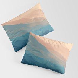 Blue Waves In Desert Peaks Pillow Sham