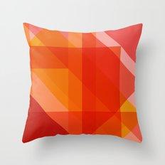 Rosey Facets Throw Pillow