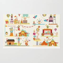 Circus of Munchy Monsters Rug