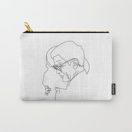 Pier Paolo Pasolini minimal line drawing Carry-All Pouch