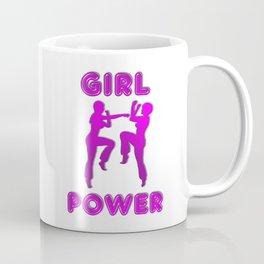 Girl Power Martial Arts Sparring Females Coffee Mug
