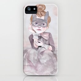 Little Girl in Mask iPhone Case