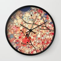 positive Wall Clocks featuring Positive Energy by Olivia Joy StClaire