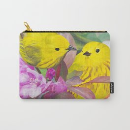 2 warblers on a flowering branch Carry-All Pouch