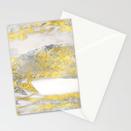 Silver and Gold Marble Design Stationery Cards