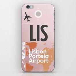 LIS airport iPhone Skin